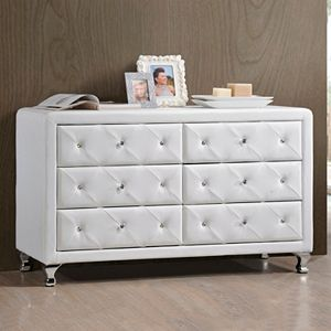 Baxton Studio Luminescence Upholstered Dresser
