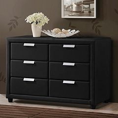 Baxton Studio Pageant Upholstered Dresser