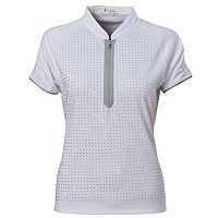 Plus Size Nancy Lopez Desire Quarter-Zip Golf Polo