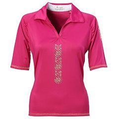 Women's Nancy Lopez Attract Embellished Golf Polo