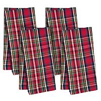 KAF HOME Holiday Plaid 4-pc. Napkin Set