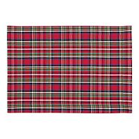 KAF HOME Holiday Plaid 4 pc Placemat Set