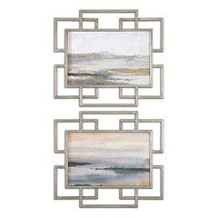 Gray Mist Wall Art 2 pc Set