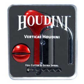 Houdini 4-pc. Vertical Corkscrew & Wine Stopper Set