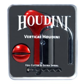 Houdini 4-pc. Vertical Corkscrew & Wine Stopper Set