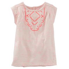 Girls 4-6x OshKosh B'gosh® Puff-Print Space-Dyed Tee