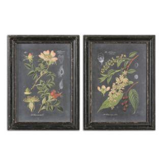 Uttermost Midnight Botanicals Wall Art 2-piece Set
