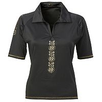Plus Size Nancy Lopez Attract Embellished Golf Polo