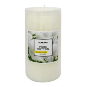 """SONOMA Goods for Life? 3"""" x 6"""" Pure Cotton Pillar Candle"""