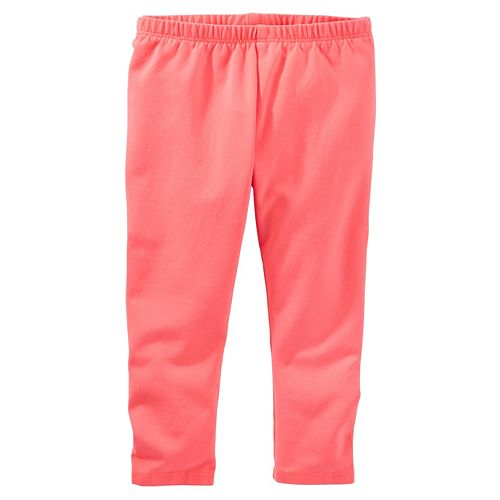 Girls 4-6x OshKosh B'gosh® Garment-Dyed Solid Capri Leggings