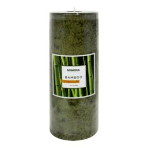 """SONOMA Goods for Life? 3"""" x 8"""" Bamboo Pillar Candle"""