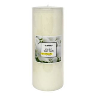 """SONOMA Goods for Life™ 3"""" x 8"""" Pure Cotton Pillar Candle"""