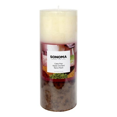 SONOMA Goods for Life™ 3″ x 8″ Cake Pop, Apple Orchard and Spice Rack Pillar Candle