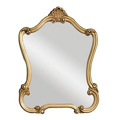 Walton Hall Gold-Tone Wall Mirror