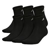 Big & Tall adidas 6-pack ClimaLite Performance Quarter Socks