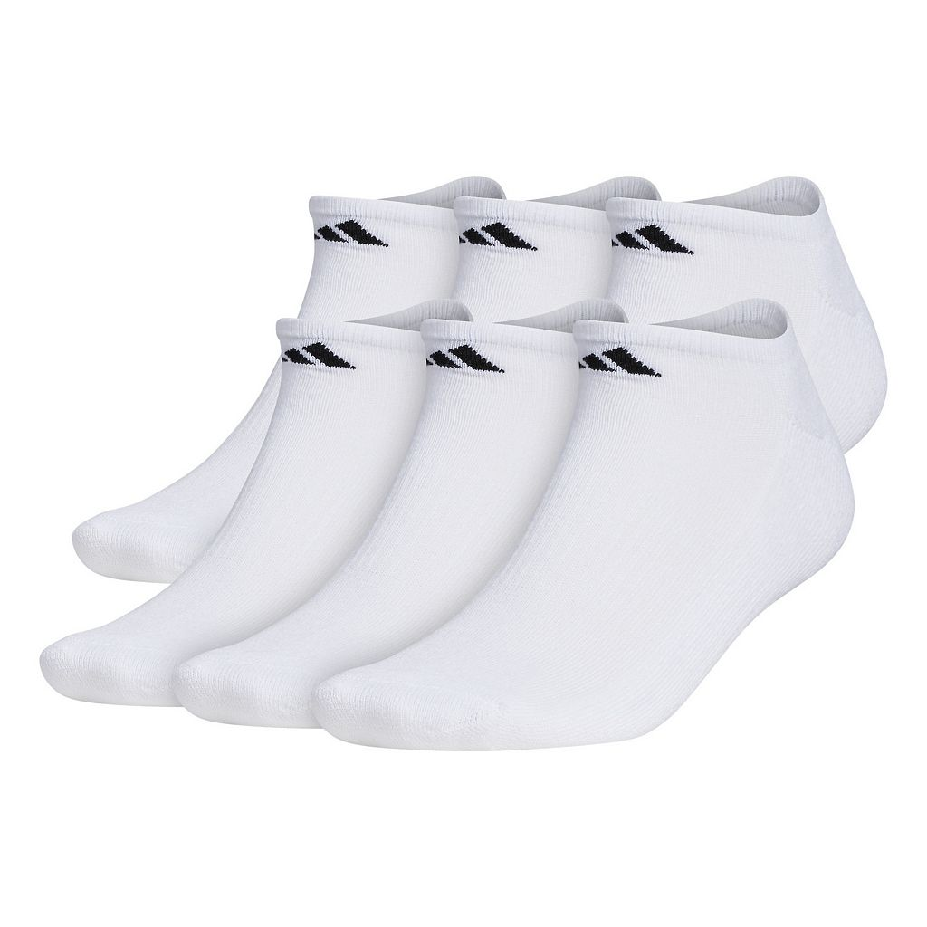 Big & Tall adidas 6-pack No Show Socks
