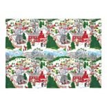 KAF HOME Winter Village Holiday 4-pc. Placemat Set