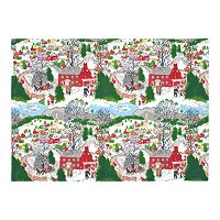 KAF HOME Winter Village Holiday 4 pc Placemat Set