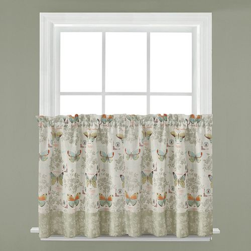 Saturday Knight, Ltd. 2-pack Butterfly Bliss Tier Curtains