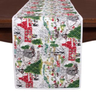 """KAF HOME Winter Village Holiday Table Runner - 14"""" x 72"""""""