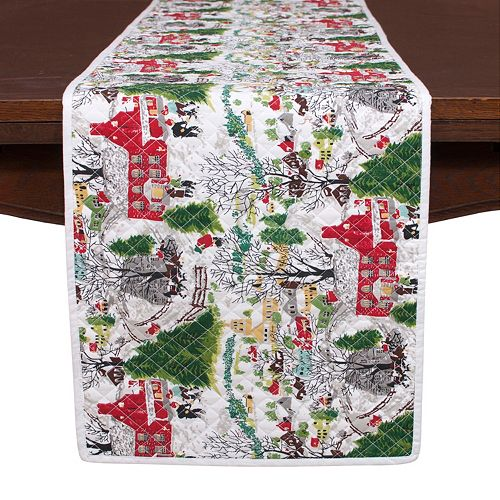 KAF HOME Winter Village Holiday Table Runner - 14