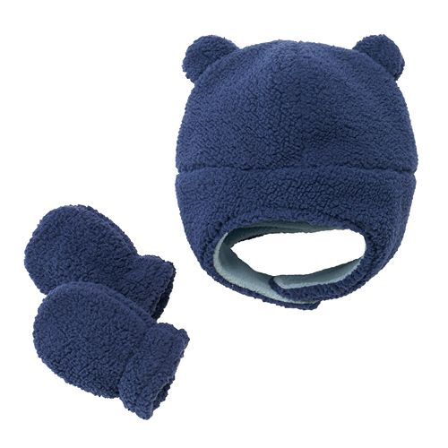Baby Boy Carter s Fleece Sherpa Hat   Mittens Set 9e2db881275