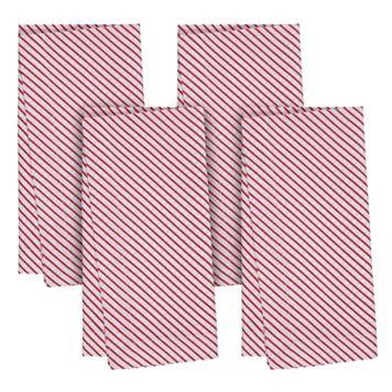 KAF HOME Candy Cane Stripes 4-pc. Napkin Set