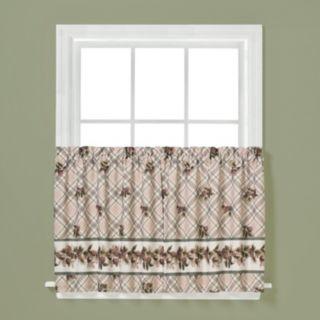 Saturday Knight, Ltd. 2-pack Pinecone Plaid Tier Curtains