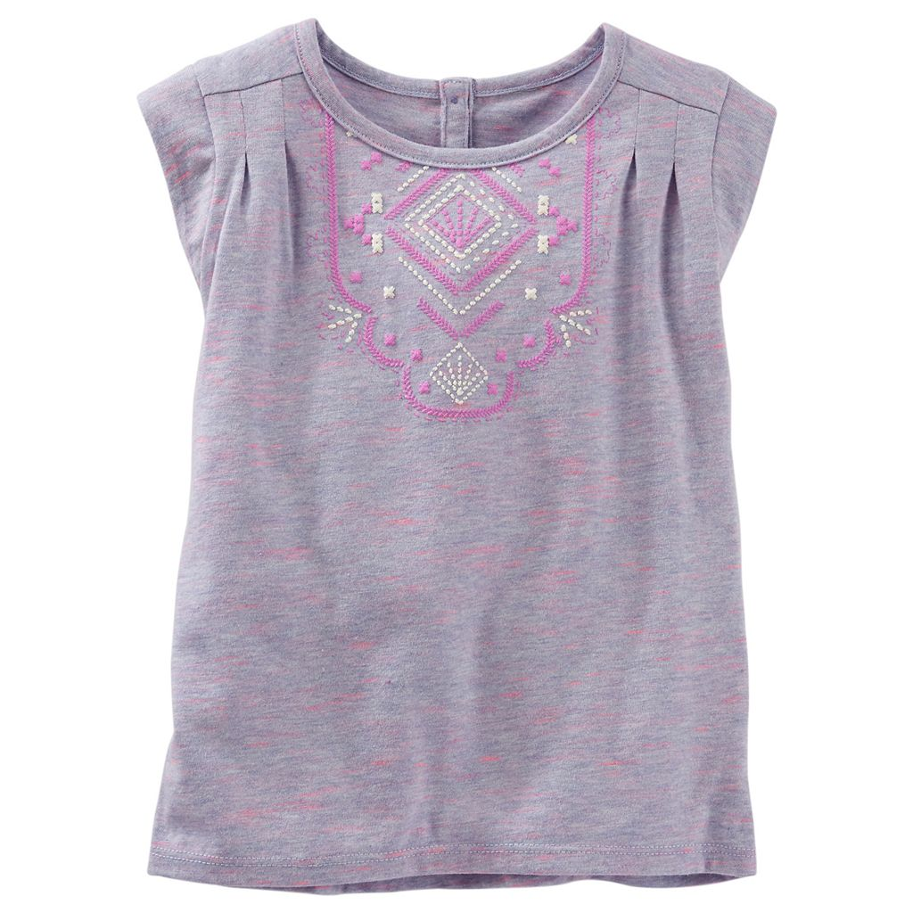 Toddler Girl OshKosh B'gosh® Puff-Print Space-Dyed Tee