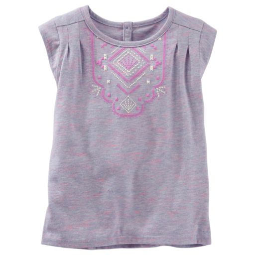 Toddler Girl OshKosh B'gosh® Puff-Print Space-Dyed Tee