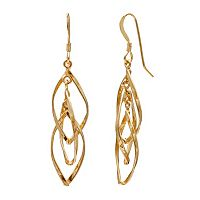 14k Gold Vermeil Twist Drop Earrings