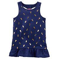 Toddler Girl OshKosh B'gosh® Foil Racerback Peplum Tank