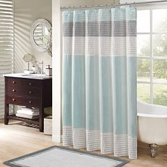blue and gray shower curtain. Madison Park Eastridge Shower Curtain Blue Curtains Bathroom  Bed Bath Kohl s