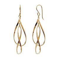 14k Gold Vermeil Twist Teardrop Earrings