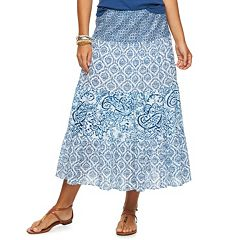Women's Chaps Tiered Crinkle Skirt