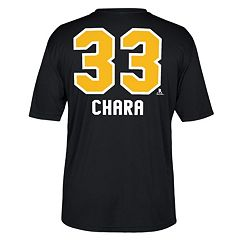 Men's Reebok Boston Bruins Zdeno Chara Name and Number Tee