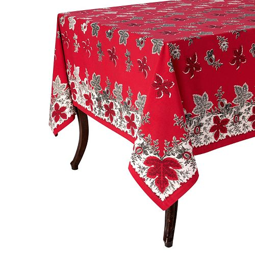 KAF HOME Bontanique Holiday Tablecloth
