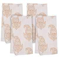 KAF HOME Rani Paisley 4 pc Napkin Set