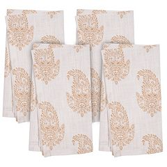KAF HOME Rani Paisley 4-pc. Napkin Set