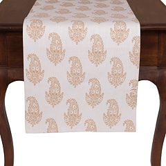 KAF HOME Rani Paisley Table Runner - 16' x 90'