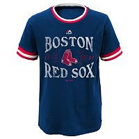 Boys 8-20 Majestic Boston Red Sox Round The Bases Ringer Tee