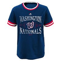 Boys 8-20 Majestic Washington Nationals Round The Bases Ringer Tee