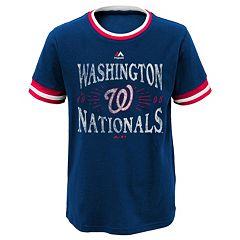 Boys 8-20 Majestic Washington Nationals Round The Bases Ringer Tee