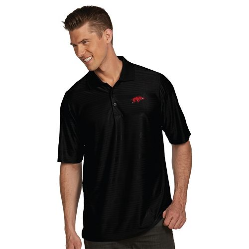 Men's Antigua Arkansas Razorbacks Illusion Desert Dry Extra-Lite Performance Polo