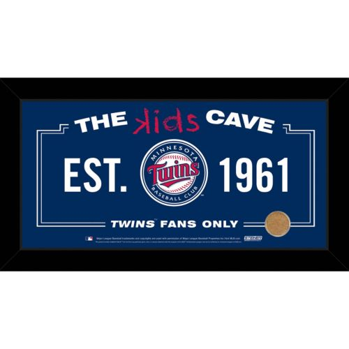 Steiner Sports Minnesota Twins 10″ x 20″ Kids Cave Sign with Authentic Field Dirt