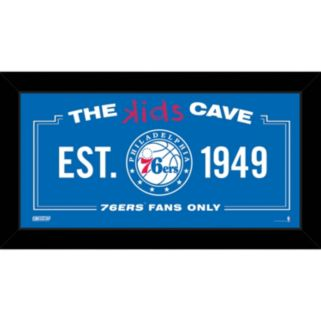 "Steiner Sports Philadelphia 76ers 10"" x 20"" Kids Cave Sign"
