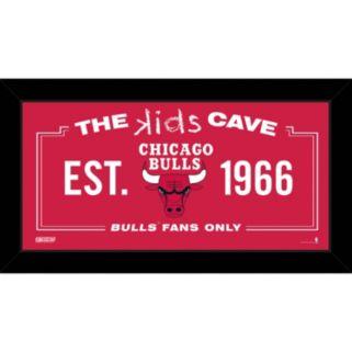 """Steiner Sports Chicago Bulls 10"""" x 20"""" Kids Cave Sign"""