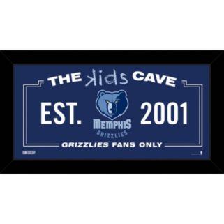 "Steiner Sports Memphis Grizzlies 10"" x 20"" Kids Cave Sign"