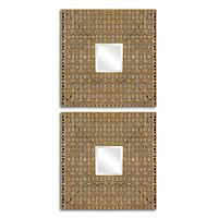 Adelina Squares Wall Mirror 2-piece Set