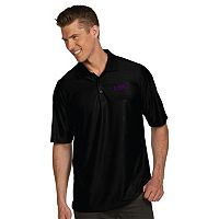 Men's Antigua LSU Tigers Illusion Desert Dry Extra-Lite Performance Polo